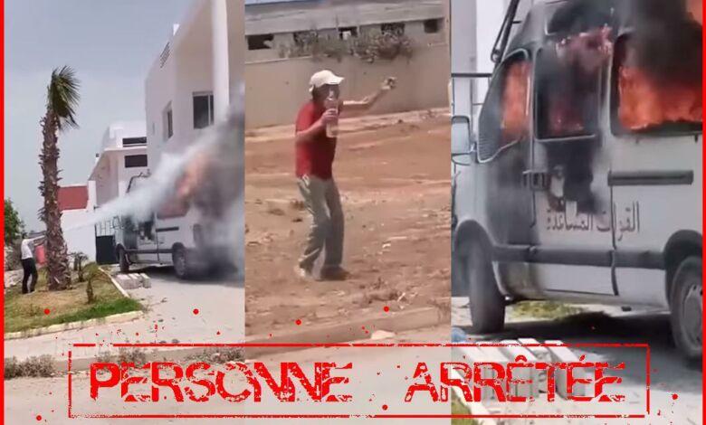 أمن العيايدة بسلا يوقف المتورط في إضرام النار في سيارة للقوات العمومية